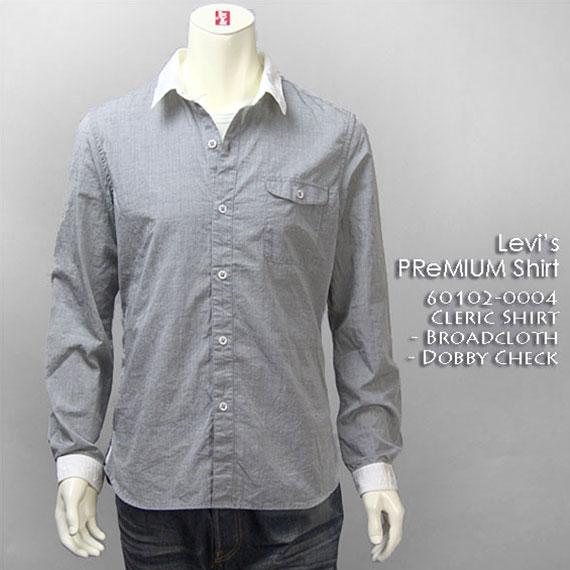 【送料無料】 リーバイス・プレミアム 長袖 クレリック シャツ / ブロード ( Levi's PReMIUM Shirt 60102-0004 )【smtb-tk】