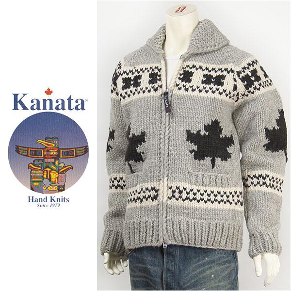 【送料無料・カナダ製】Kanata カナタ カウチンセーター ダブルジップ メイプル バージンウール Kanata Hands Knits Cowichan Sweater Hand Made in Canada 38881-16【smtb-tk】