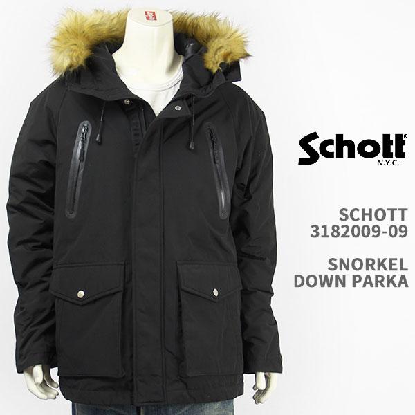 【国内正規品】Schott ショット シュノーケル ダウンパーカー ジャケット Schott SNORKEL DOWN PARKA 3182009-09【マウンテン・送料無料】