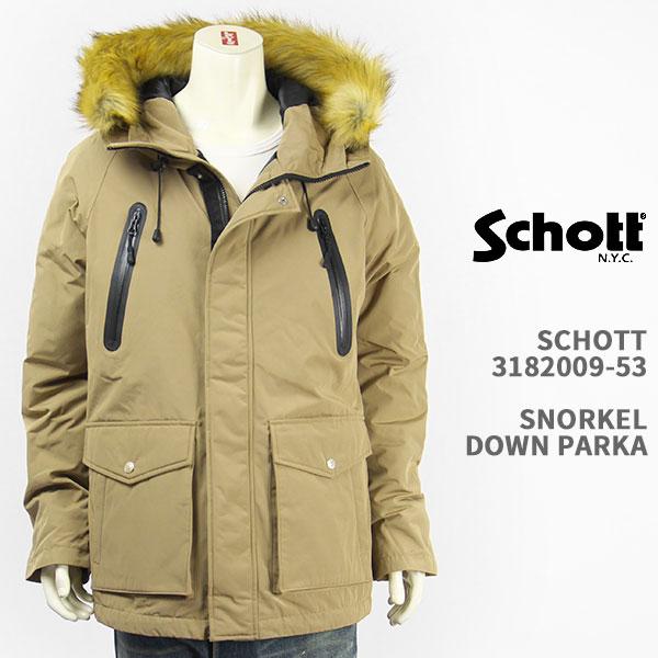 【国内正規品】Schott ショット シュノーケル ダウンパーカー ジャケット Schott SNORKEL DOWN PARKA 3182009-53【マウンテン・送料無料】