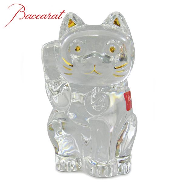 バカラ BACCARAT クリスタル フィギュア LUCKY CAT ラッキーキャット 招き猫 クリア #2607786 【送料無料】