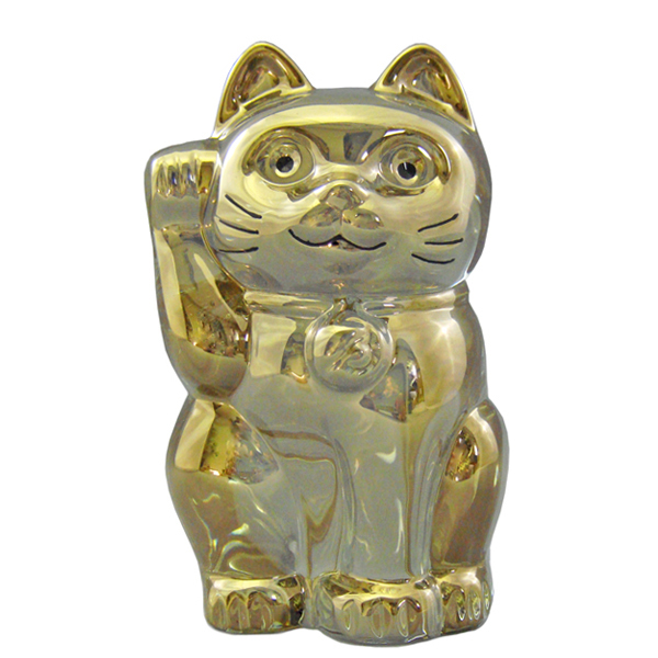 バカラ BACCARAT クリスタル フィギュア LUCKY CAT ラッキーキャット 招き猫 ゴールド #2612997 【送料無料】