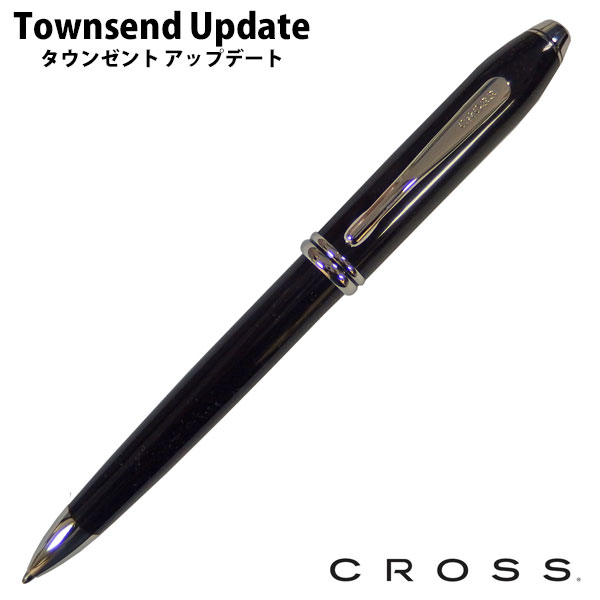 During the marathon points five times ★ CROSS cross Townsend update UPDATE TOWNSEND black lacquer rhodiumplateballpen AT 0042TW-4