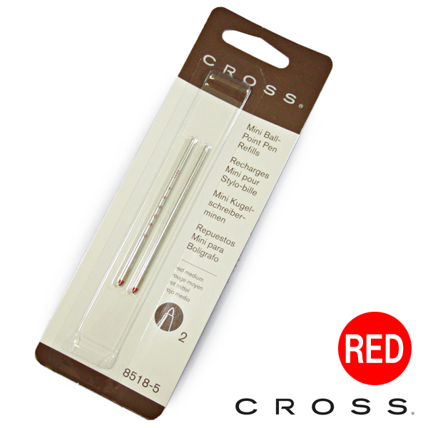 CROSS cross TECH3, TECH4, for COMPACT ballpoint pen replacement Wick refill ink colors: Red (red) 8518-5