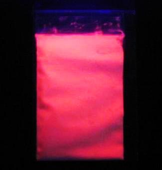 UV 蛍光 ブラックライト ブラックライトパウダー レッド 100g 赤色発光 高輝度 無機質蛍光顔料