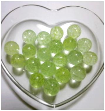 发光的玻璃球,绿色发光大理石 (10)