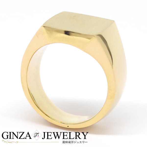 K20 yellow gold ring marked with rings men's Square marked with rings 17 No.