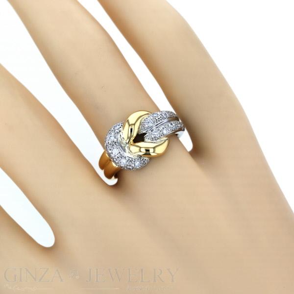 K18 Pt900 イエローゴールド プラチナ リング ダイヤモンド 0 26ct コンビ 透かし ロープ デザイン 指輪 10号 新品仕上済paジュエリー人気送料無料送料無料jc4AqS35RL