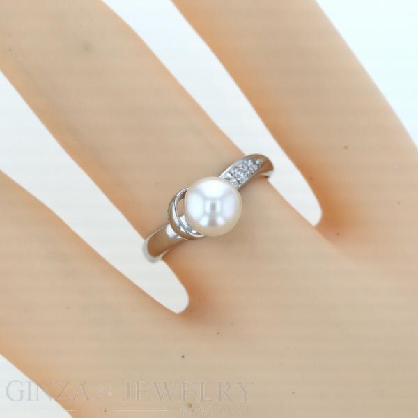 Everydaygoldrush Jewelry Shop Pt850 Platinum Ring Diamond 0 06ct