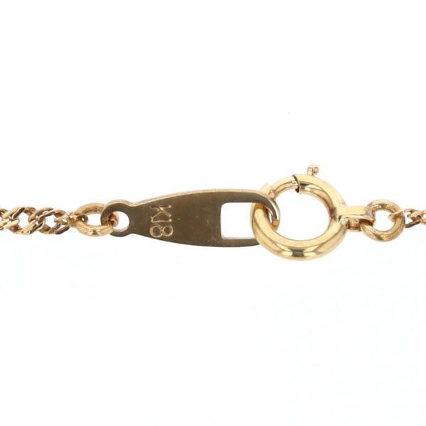 K18YG イエローゴールド ネックレス ダイヤモンド0 05ct リーフ 葉 花 フラワー デザイン 新品仕上済zz送料無料YWEIH2D9