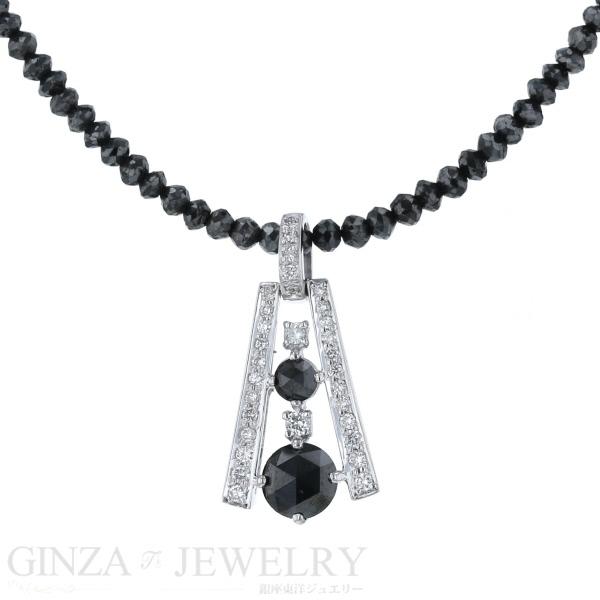 K18WG ホワイトゴールド ネックレス ブラックダイヤモンド 20.0ct 1.10ct 18%OFF ※ラッピング ※ ダイヤモンド 新品仕上済 0.30ct 送料無料 中古 45cm zz