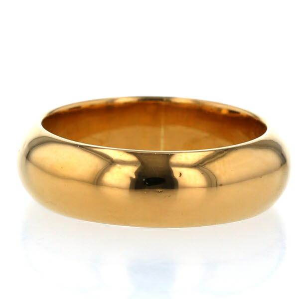 純金 K24 ゴールド リング 甲丸リング 極太 シンプルデザイン 指輪 17.5号 メンズ【新品仕上済】【el】【中古】【送料無料】
