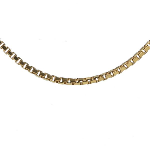 LASoma ラソマ K18YG イエローゴールド ネックレス ベネチアンチェーン 華奢 シンプル デザイン 46cm【新品仕上済】【pa】【中古】【送料無料】