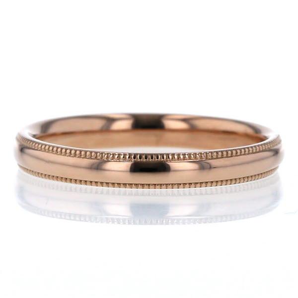 BRILLIANCE+ ブリリアンスプラス K18PG ピンクゴールド リング ダイヤモンド オーバルミルグレイン 9.5号 指輪【新品仕上済】【pa】【中古】【送料無料】