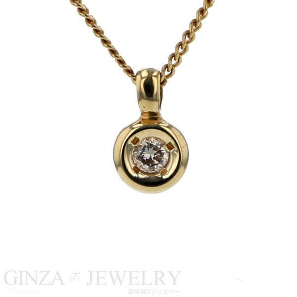 K18 イエローゴールド ネックレス チェーン ダイヤモンド 0.05ct 40cm 1.9g 一粒 デザイン 【新品仕上済】【el】【送料無料】