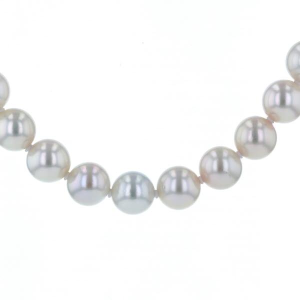 SILVER シルバー ネックレス 真珠 パール 8.3mm シンプル 大粒 冠婚葬祭 ソーティング付き 44cm【新品仕上済】【iw】【中古】【送料無料】
