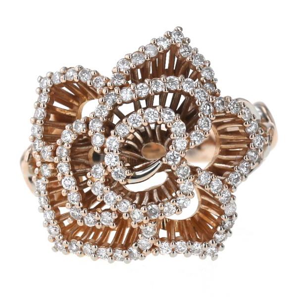 ベストセラー K18PG ピンクゴールド リング ダイヤモンド 0.81ct バラ 薔薇 ローズ 花 フラワー 植物 透かし 指輪 12.5号【新品仕上済】【zz】【送料無料】, focarth 2c0d8c63