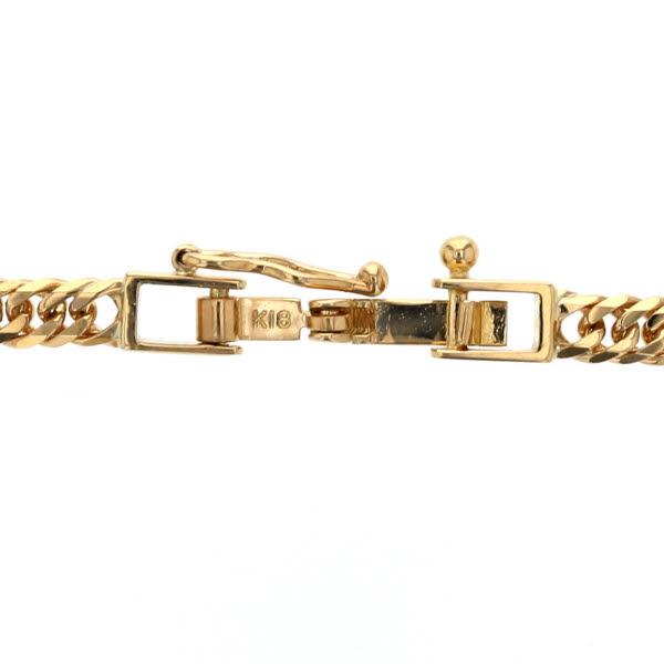 K18YG イエローゴールド ネックレス 6面 ダブル 喜平 キヘイ デザイン メンズ レディース 40 5cm 10 1g 新hCQrsxtd
