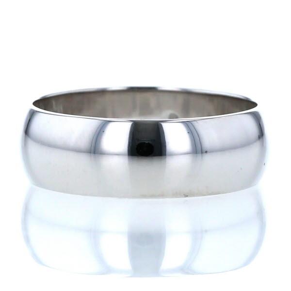 K18WG ホワイトゴールド リング 甲丸リング シンプル デザイン 指輪 12号【新品仕上済】【el】【中古】【送料無料】
