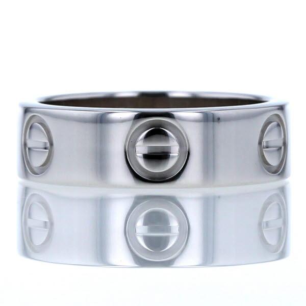 Cartier カルティエ 750 K18WG ホワイトゴールド リング ラブリング ロゴ メンズ レディース 9号 指輪【新品仕上済】【el】 【中古】【送料無料】