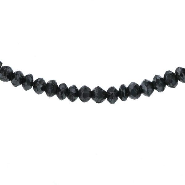 K18WG ホワイトゴールド ネックレス ブラックダイヤモンド 21.23ct 天然石 メンズ レディース 46cm【新品仕上済】【af】【中古】【送料無料】