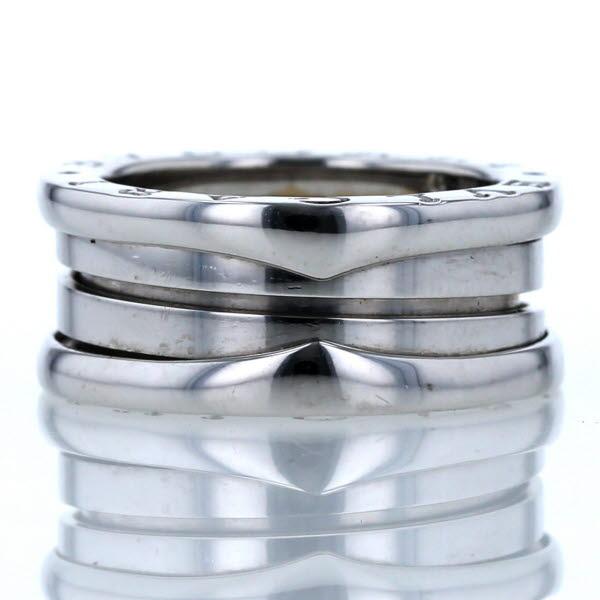 BVLAGRI ブルガリ K18WG ホワイトゴールド リング B-zero1 ロゴ デザイン 指輪 8.5号 【新品仕上済】【el】【中古】【送料無料】