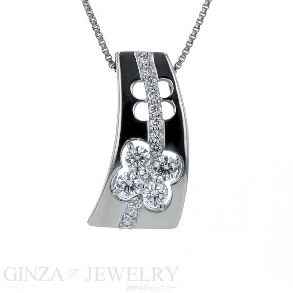 La soma ラソマ Pt850 Pt900 プラチナ ネックレス ダイヤモンド 0.40ct ベネチアンチェーン 45.5cm【新品仕上済】【zz】【中古】【送料無料】