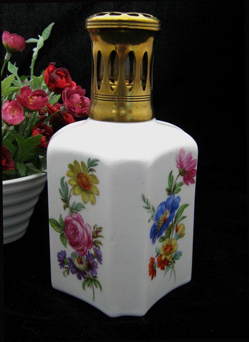 【アンティーク アロマランプ】ランプベルジェ 078 KH Saxe Porcelaine de Paris パリ磁器製作所1965-1971