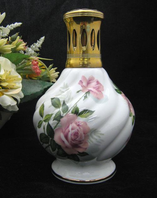 【アンティーク アロマランプ】ランプベルジェ 109CP Roses neige Porcelaine de Paris 1962-1965