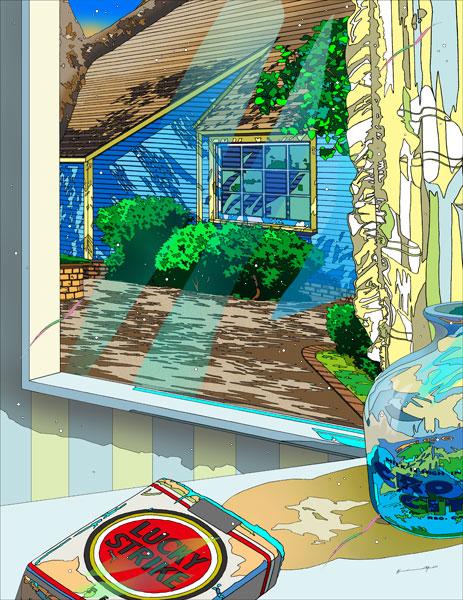 鈴木英人「窓からのメッセージ」2013年 EMグラフ 送料無料 額付版画作品国内 送料無料, 新庄みそ:9d6d3806 --- sunward.msk.ru