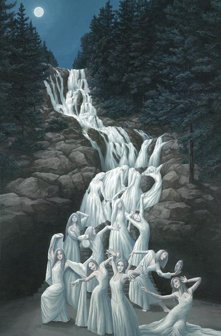 ロブ・ゴンサルヴェス 「Water Dancing」Rob Gonsalves ジグレー版画選べる新品額付 国内 送料無料