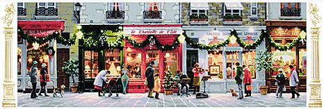 笹倉 鉄平 「リュ・ド・ノエル」(デラックス版)Rue de Noel (DX)シルクスクリーン 額付版画作品2005年リリース【送料無料】