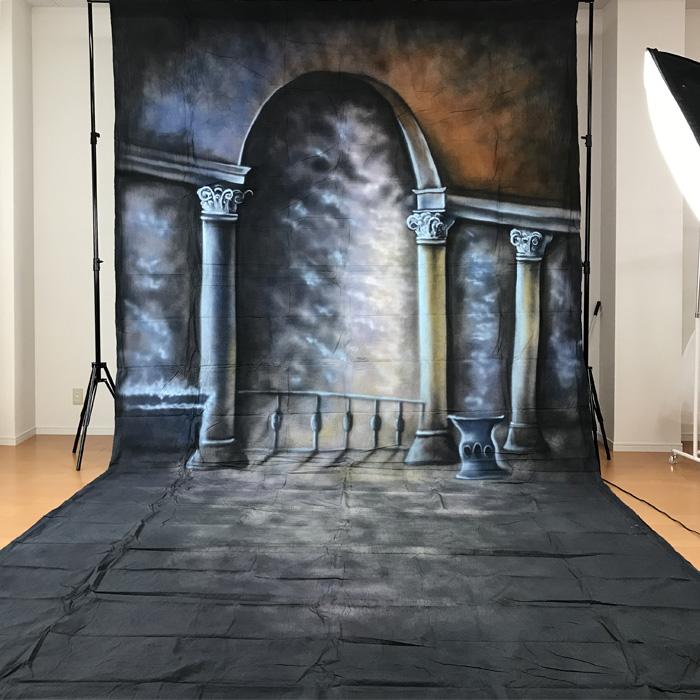 【期間限定割引】撮影用背景布 手描き風布背景 約2.8m×6m 布バック スタジオ大型全身撮影用paintingcloth_ms-637