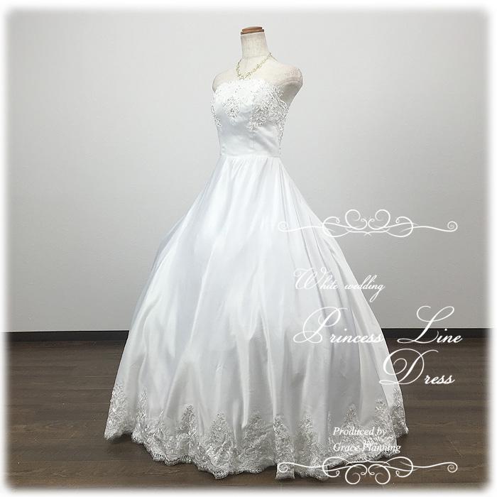 ウェディングドレス 白 プリンセスライン 7号9号11号 結婚式や二次会 海外挙式 フォトウェディングにお勧めします gcd1914