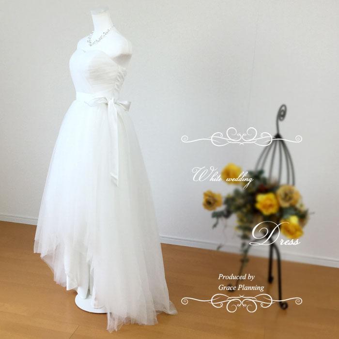 ハートカット フィッシュテール ウェディングドレス 二次会 白 5号7号9号11号13号 結婚式 花嫁ドレス 海外挙式 二次会 フォトウェディングに gcd7036