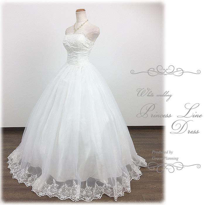 刺繍のビスチェとスカート プリンセスラインのウェディングドレス WeddingDress 5号7号9号11号13号 結婚式や二次会 花嫁ドレス 海外挙式 フォトウェディングにお勧めします gcd8528