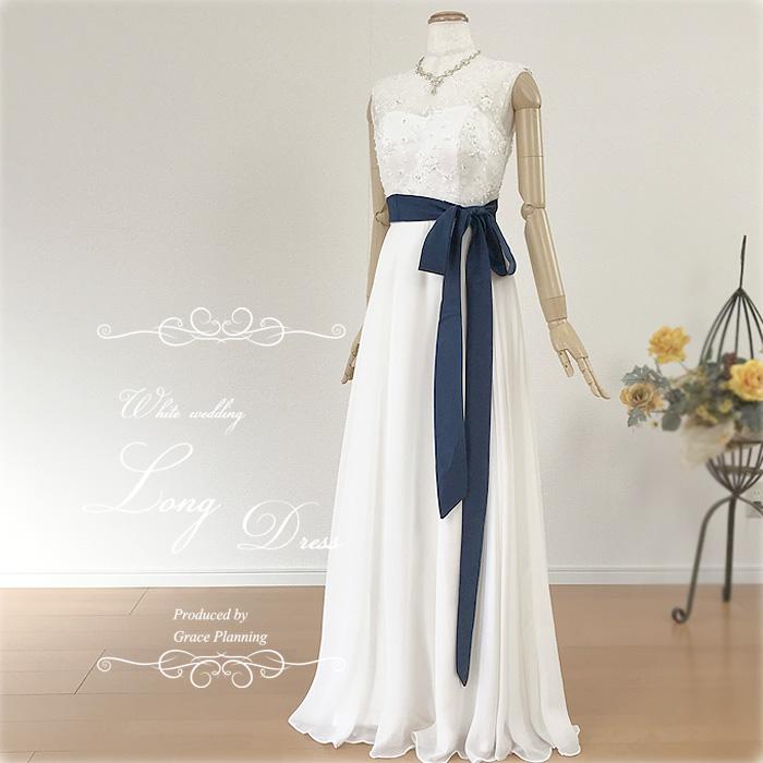 ウェディングドレス 白 清楚な刺繍のウェディングドレス ノースリーブのワンピースタイプ スレンダーラインでスタイル良く 二次会 花嫁ドレス オススメ WeddingDress gcd8852[5号7号9号11号13号]
