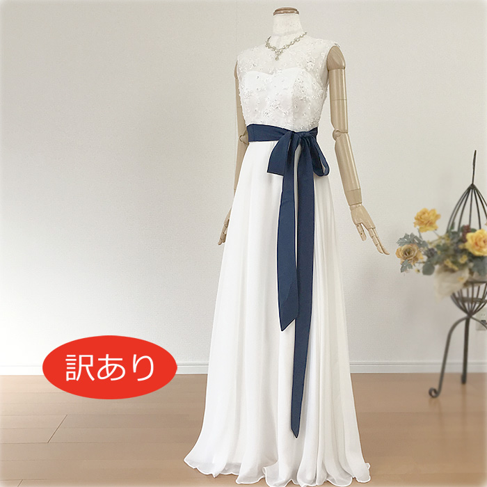 【訳あり】ウェディングドレス 二次会 白 清楚な刺繍のウェディングドレス ノースリーブのワンピースタイプ スレンダーラインでスタイル良く 花嫁ドレス オススメ WeddingDress ウエディングドレス gcd8852[5号7号9号11号13号]