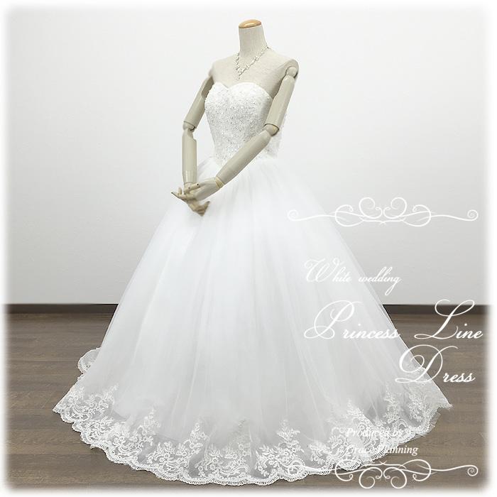優しく揺れる刺繍のスカート ウェディングドレス 白 結婚式や二次会 花嫁ドレス 海外挙式 フォトウェディングにお勧めします gcd8868 WeddingDress 7号9号11号13号