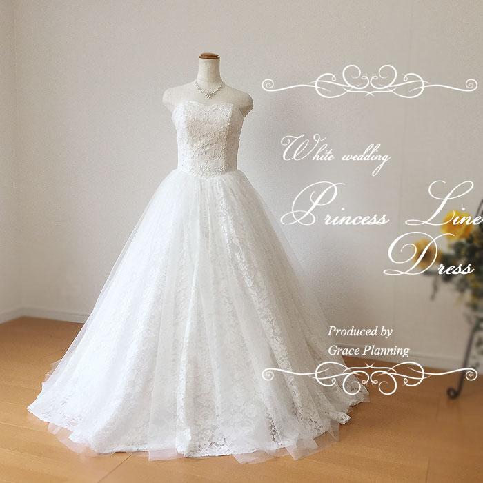 【改良しました!】総レースが豪華なウェディングドレス 二次会 白 WeddingDress 5号7号9号11号 結婚式 ウエディングドレス 花嫁ドレス 海外挙式 フォトウェディング gcd8871