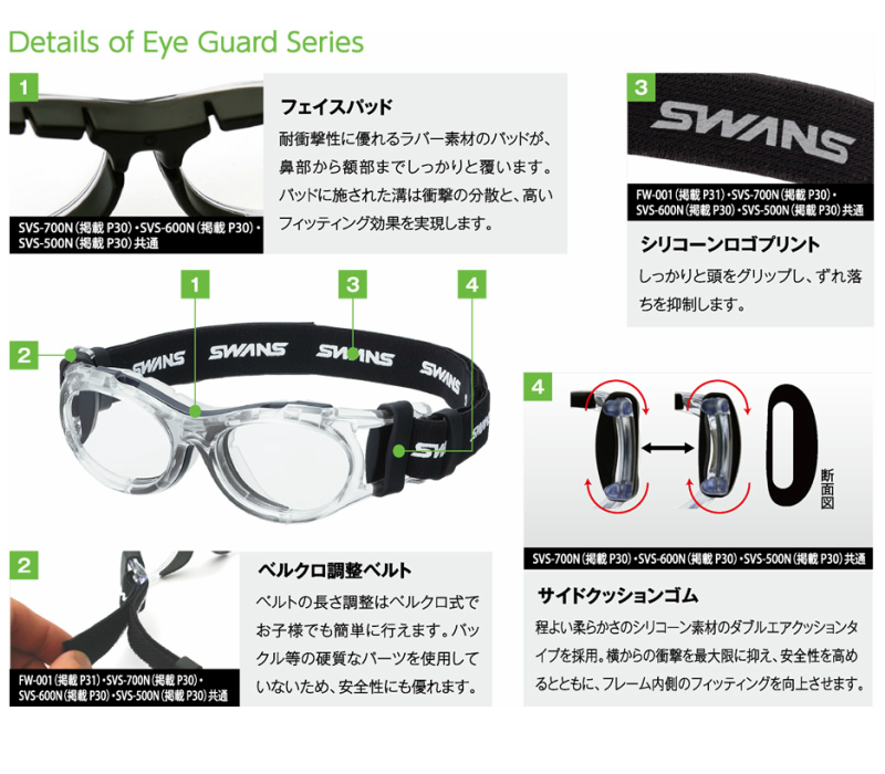 24ae29e8f1 graceeyewear  SWANS Swan SVS-700N IGAD EyeGuard all colors with ...