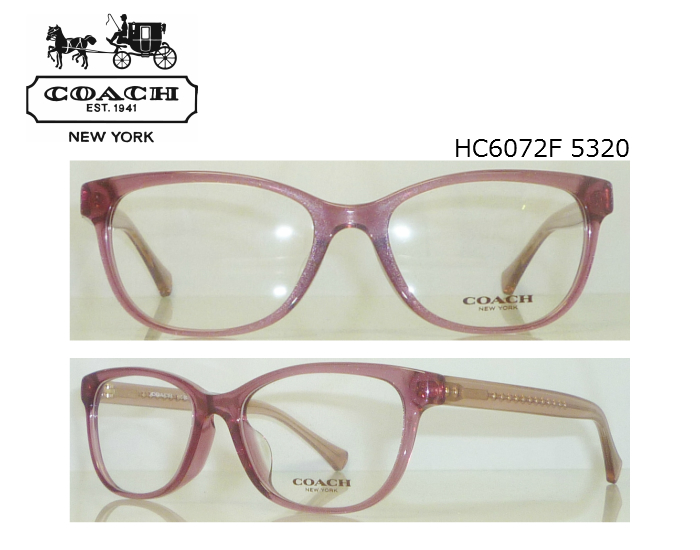 288c9832106fc Coach Womens HC6072 5320 clapping frame domestic genuine sale shop sunglasses  glasses popular Dancewear