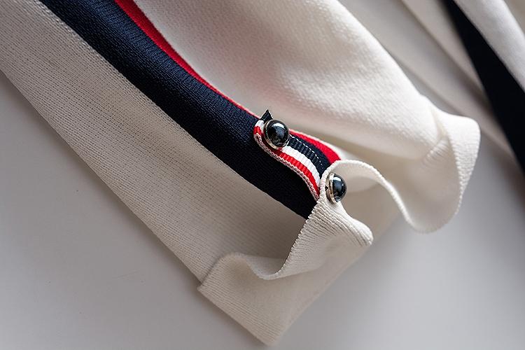 セーター ブラウス トップス Tシャツ チュニック レディース 大きいサイズ 母親 夏 きれいめ ホワイト ネイビー 白 紺 ストライプ ライン 半袖 サマーニット カジュアル オフィスカジュアル ナチュラル 上品 清楚 シンプル デート デイリー  母の日/[ccm76]