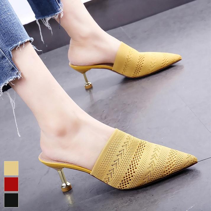 21208a47f9df0 Beautiful leg /[zak63] where mule low heel black Shin pull Lady's big size  ...