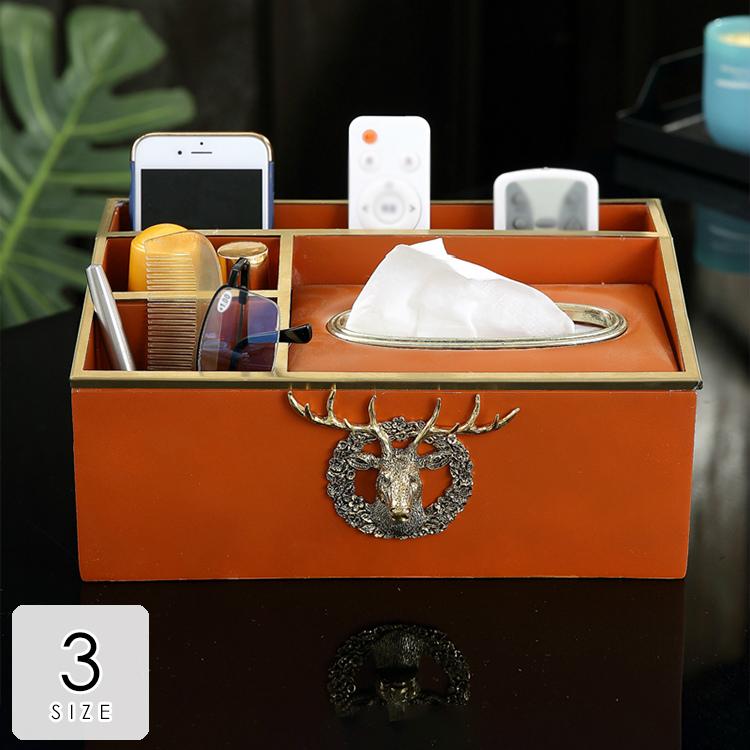 みんなが憧れるオシャレルーム ティッシュボックス ティッシュケース おしゃれ 多機能 ギフト プレゼント 引越し祝い 新築祝い 結婚祝い 鹿 ゴージャス アンティーク なめらか 気品あふれる しなやか 格調高い オレンジ ブラウン ゴールド可愛い リビング ホテルライク 華やか空間 便利グッズ /[agx15]