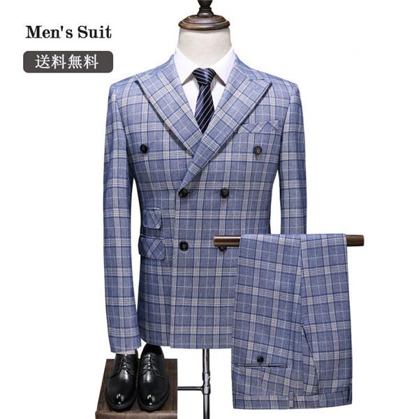 ダブルブレスト スリム スーツ 2ボタンビジネス シングル 入社式 ビジネス メンズ紳士服 suit メンズ大きいサイズ おしゃれ春 夏 細身 結婚式 オシャレ dg142g4g4c7/代引不可
