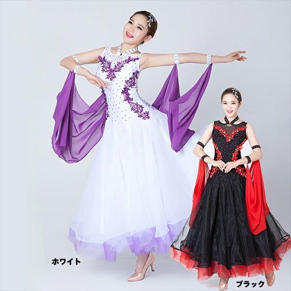 0610fab58a5f0 楽天市場  サイズ有S M L XL 2XL ダンス衣装 社交ダンス モダンドレス ...