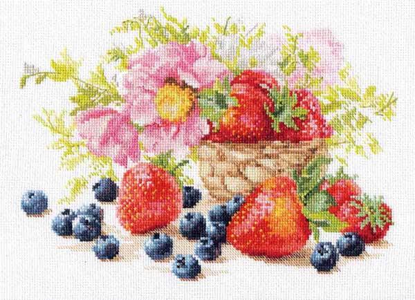 メール便 アリサ ALISA クロスステッチ 刺繍キット イチゴ 花・フルーツ・果物 クロスステッチキット クロスステッチ ししゅう 刺繍