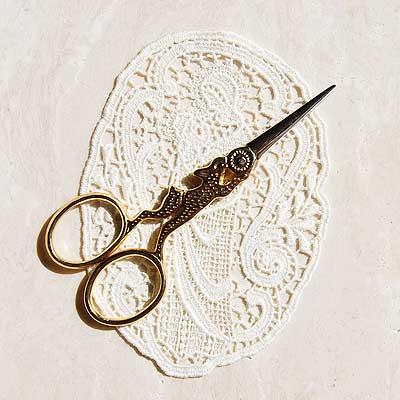 野うさぎのハサミ ゴールド 手芸 糸切り 刺繍 鋏