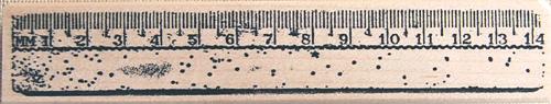 ラバースタンプ 定規 2 訳あり商品 木の持ち手 ウッドマウント 輸入スタンプ ゴム印 おすすめ アートスタンプ スタンプ